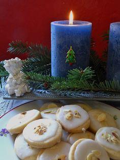 Schottische Shortbread Kekse mit Zitronenglasur Shortbread, Table Decorations, Rice Flour, Vegane Rezepte, Biscuits, Dinner Table Decorations
