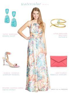 Wedding guest dresses on pinterest fit flare dress rent for Pastel dresses for wedding guests