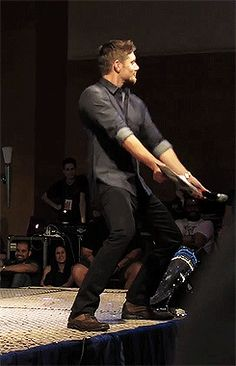 Jensen Ackles - [gif]  ...just a friendly reminder that this happened.  #Jensen  #JIB2013