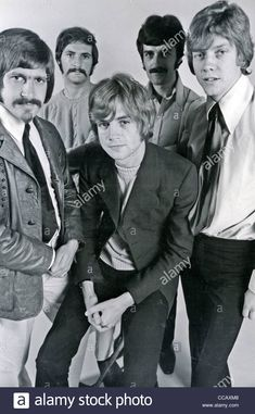 Download this stock image: MOODY BLUES  UK pop group in August 1968. Photo Tony Gale. See Description below for names - CCAXM8 from Alamy's library of millions of high resolution stock photos, illustrations and vectors.