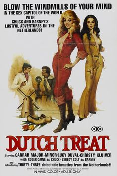 POSTER - DUTCH TREAT - XXX;Dutch Treat;1977;Kemal Horulu;Navred Reef;Roger Caine;Zebedy Colt;Lucy Duval;Christy Kluiver;Carrah Major-Minor;Adults Only;Rated X;