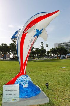 Sponsor:  Tampa Bay Times  Artist:  Betsy Hawkins-Maher  Photo credit:  Jay Richmond Photography  One of 50 themed dolphins on display at Pier 60 Park, Clearwater Beach, until 9/4/12.  #ClearwatersDolphins