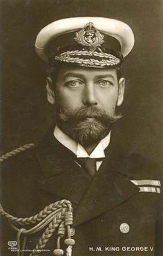 """""""King George V (1865-1936) - father of King George VI (1895-1952). One of the few men in history who can make that beard and moustache combination work (apart from Nicholas II who also looks great) and actually look wonderful in it."""""""