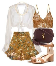 A fashion look from August 2017 by mariandradde featuring Mes Demoiselles., Zimmermann, For Love & Lemons, Gianvito Rossi, Yves Saint Laurent and Gucci Classy Outfits, Trendy Outfits, Summer Outfits, Warm Outfits, Mode Outfits, Fashion Outfits, Womens Fashion, Fashion Trends, Fashion Tips
