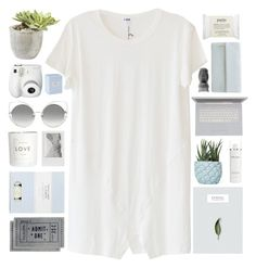 """""""When I look at you it's like I've been baptised."""" by queen-of-clarity ❤ liked on Polyvore featuring LnA, Chen Chen & Kai Williams, Fujifilm, Elemis, Whistles, PyroPet, H&M, philosophy, Laura Ashley and Polaroid"""