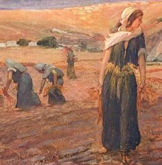 Ruth- a woman who is dedicated to her mother in law after her husband dies. Ruth returns with Naomi, her mother in law, to Bethlehem, where she gleans barley and wheat for the entirety of the season. The owner of this field, Boaz, allows this for he has heard of her loyalty and because Boaz is a relative of Naomi's it is right that he marry Ruth to carry on the family line. they have a son named Obed.