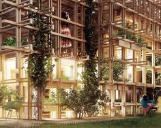 Light Emanating from  'The Gardenhouse' through Plants