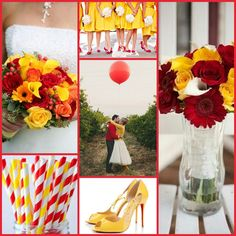 Red Yellow Weddings White Wedding Colors Gray