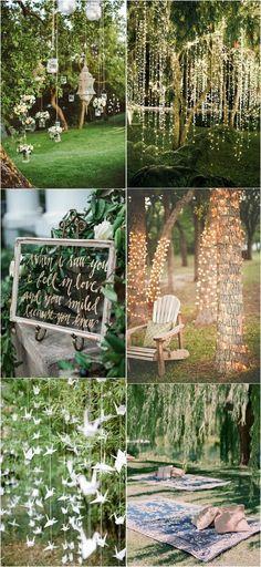 25 Brilliant Garden Wedding Decoration Ideas for 2018 Trends amazing outdoor wedding decoration idea Forest Wedding, Rustic Wedding, Dream Wedding, Trendy Wedding, Cottage Wedding, Quirky Wedding, Wedding Vintage, Outdoor Wedding Decorations, Wedding Themes