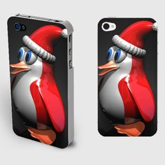 Red Penguin Iphone4/4S Christmas Case