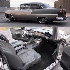 Fesler 1955 Chevy 210 with custom interior. #feslerbuilt