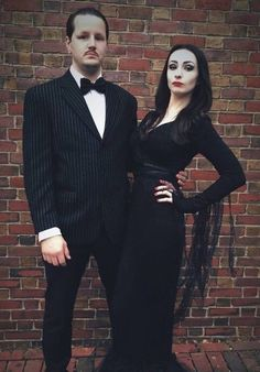 Best DIY Halloween Costume Ideas – Cool Morticia and Gomez Addams Couple Costume … – Halloween Make Up Ideas