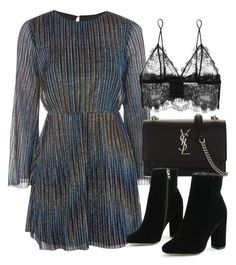 """Untitled #7118"" by laurenmboot ❤ liked on Polyvore featuring Topshop, Yves Saint Laurent and Anine Bing"