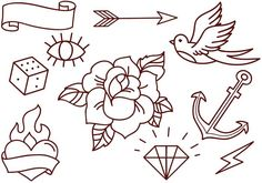 Free Old School Tattoos Vectors - Download Free Vector Art, Stock ...
