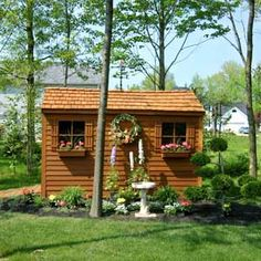 Well-Landscaped Shed