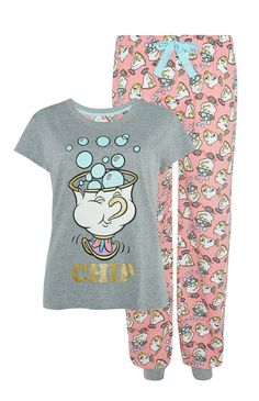 Primark - Beauty And The Beast Pyjama Set Pijama Disney, Disney Merch, Cute Disney Outfits, Cute Lazy Outfits, Disney Pajamas, Disney Clothes, Cute Pajama Sets, Cute Pajamas, Girls Pajamas