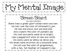 Green Giant Poem for mental images