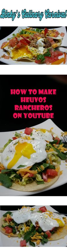 How to Make Heuvos Rancheros on YouTube Binky's Culinary Carnival #ifbcx