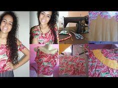 Blusa de babado nos ombros Alana Santos Blogger - YouTube