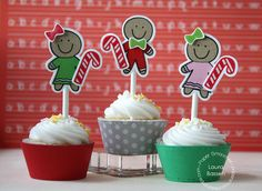 Paper Smooches~Giddy Gumdrops by L. Bassen, via Flickr: ULTRA CUTE cupcake decor!
