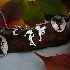 *LOVE* The Hairy Growler Jewellery Co. Cheeky Lil Pixie collection. I love you my little faerie said the pixie. Handcrafted from recycled silver shillings