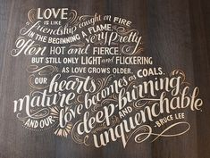 Letters We're Loving: Check out these Hand-Lettering and Typography Inspirations we're loving! Warm Browns, Wood Letters, Typography Inspiration, Love And Light, Hand Lettering, Illustrator, Fill, Calligraphy, Type