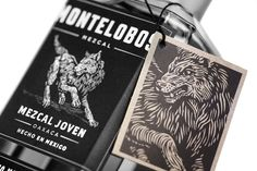 """More black and white designs that have a nice """"bite"""" and attitude to them. The illustration here is killer, but I also admire the type and design hierarchy. The use of multiple labels almost always makes the product feel elevated to me. Makes it feel small batch or something."""