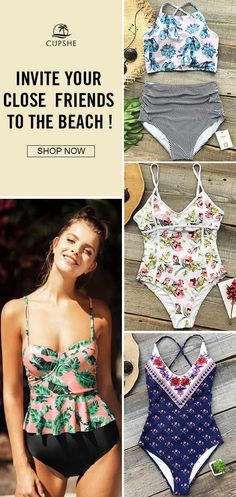 Get confidence and beauty at Cupshe.com! Such floral swimsuit is designed for a flattering look. Throw on over your swimsuit for a day in the sun! Can't wait to go to the beach.