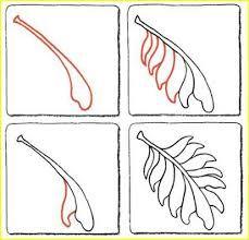 Afbeeldingsresultaat voor zentangles leaves patterns