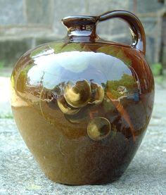 """Louwelsa"" Weller Art Pottery Jug. This Weller art pottery jug measures 6 inches high. A rare piece."