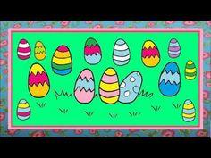 Viele bunte Ostereier - Ostern für Kinder in Deutschland - YouTube - Frohe Ostern video - with colours