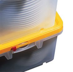 Crockery Transport Box with Lid and Vary Tube Storage Containers, Storage Boxes, Food Storage, Plate Storage, Large Plates, Box With Lid, Home Organization, Tube, Divider