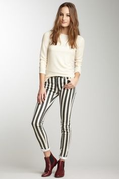 Liking these striped pants! :)