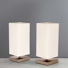 Charlotte Touch Twin Table Lamps | Dunelm