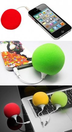~~Mini 3.5mm Music Ball Sponge Speaker for iPhone, iPod, MP3, HTC, Samsung, Mobile Phone~~The universal music ball sponge speaker has very cute sponge ball shaped coat. It is lightweight, portable and eco-friendly. It can be used for all cellphone with 3.5mm jack like iphone, ipod, HTC, Samsung and so on.  http://mywanty.com/mini-3-5mm-music-ball-sponge-speaker-for-iphone-ipod-mp3-htc-samsung-mobile-phone