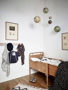 Kids room inspiration and wooden bed