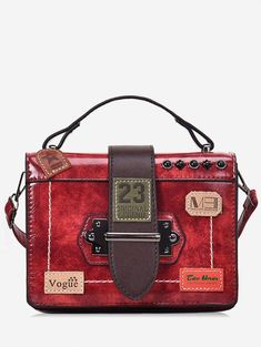 3d594b790adb Badge Pattern Rivet Tote Bag  GreatwomenhandbagsIdeas
