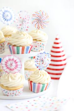 Ginger Ale Cupcakes with Ginger Ale Buttercream Frosting
