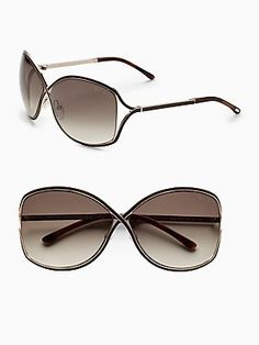 7b983a9cc55bf Tom Ford Rickie Sunglasses in Rose Gold-Brown Gradient w  Brown Lens
