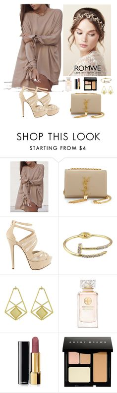"""""""Romwe 8"""" by amra-f ❤ liked on Polyvore featuring Yves Saint Laurent, ALDO, Tory Burch, Chanel, Bobbi Brown Cosmetics, women's clothing, women, female, woman and misses"""