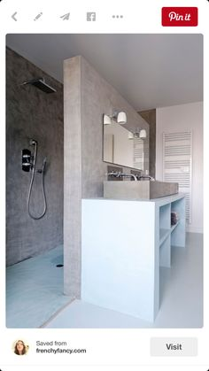 You can make your own sliding bathroom mirror that goes across your whole wall. Check out the website for the full material list   instructions: http://www.homemade-modern.com/ep94-diy-sliding-bathroom-mirror/