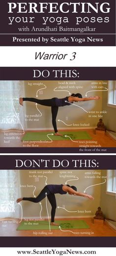 Are you looking to perfect your Warrior 3 yoga pose (Virabhadrasana)? Follow this visual guide to ensure you are doing this yoga pose just right.