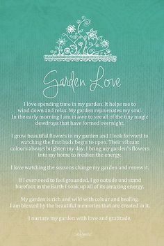 Affirmation - Garden Love by CarlyMarie: