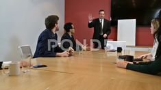 Taking A Vote by Raising Hands at Diverse Corporate Business Team Meeting Stock Footage, Typography Logo, Logo Branding, Logos, Business Meeting, Corporate Business, Meet The Team, Video Footage, Stock Video, Stock Footage