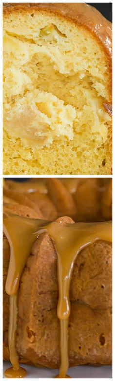 Caramel Apple Bundt Cake ~ Incredibly easy to make, and is topped with a perfect caramel glaze.