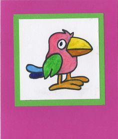 Bird, For Kids, Birthday Greeting Card