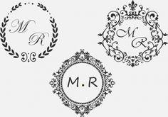 Noivinhas, Queria pedir uma ajuda pra vocês. Eu queria um monograma, que desse pra editar a cor, as letras.. mas que fosse REDONDO. Tipo o da foto abaixo. Já vi alguns sites indicados por noivinhas por aqui, mas tem modelos semelhantes a esse. Alguém