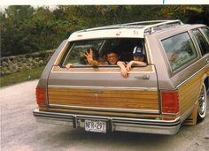Sitting in the Waaaaay back! Remember no seat belts?