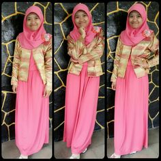 Happy ied mubarak! :D *happy with bright pink dress* #womanfashion