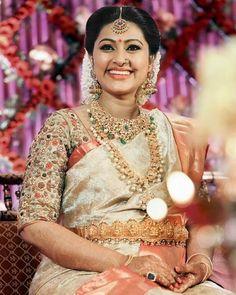 Sneha Prasanna's Baby Shower Function Jewellery | Gold ...